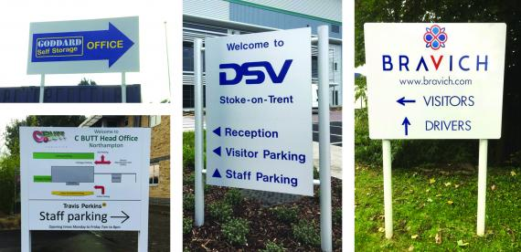 Directional & Site Signs - Kettering Northamptonshire