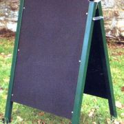 All steel 'A' board in black. Overall size 24
